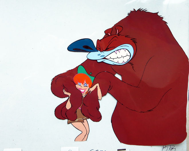 IMAGE: Animation cel –Shelley and the bear