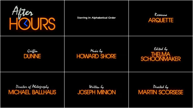 After Hours - opening titles