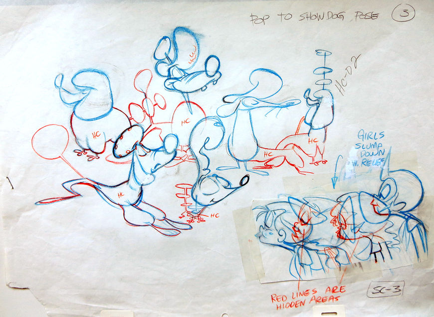 IMAGE: Production drawing –dogs and children