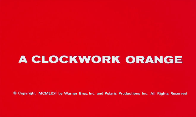 VIDEO: Title Sequence – A Clockwork Orange (1971)