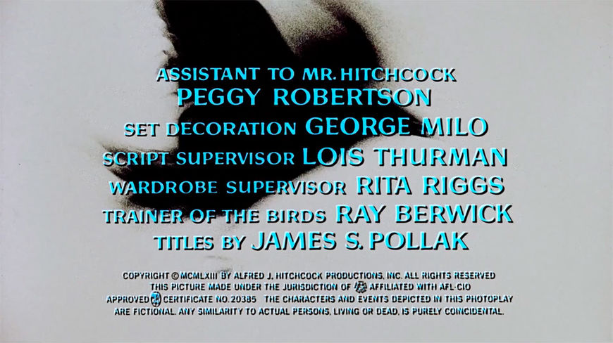 IMAGE: Still - Title Sequence credits for Robertson and Pollak