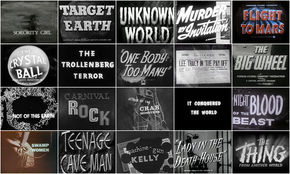 IMAGE: 1940s - 1950s B-movie feature contact sheet – right margin