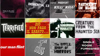 Belted, Booted and Buckled: B-Movie Title Design of the 1960s