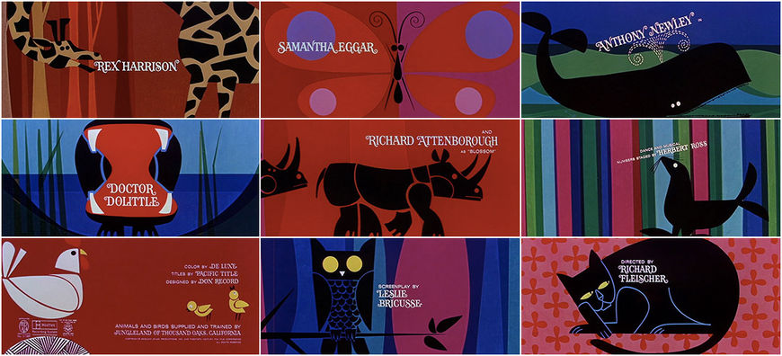 VIDEO: Doctor Dolittle (1967) main title sequence