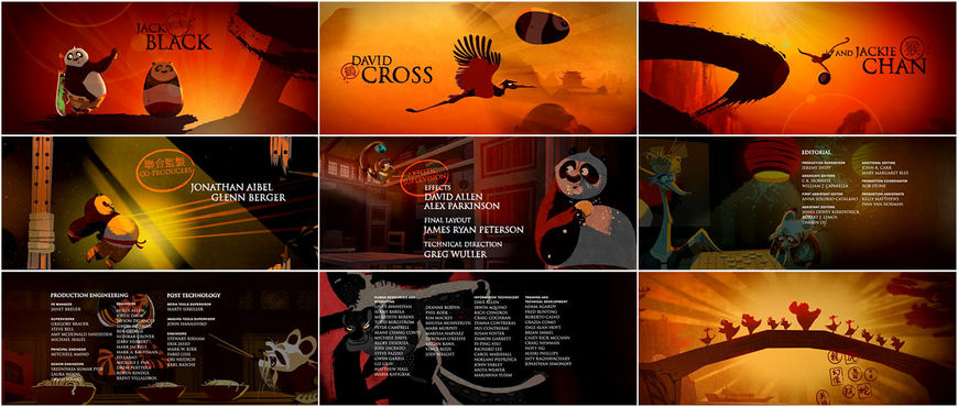 Kung Fu Panda - end credits