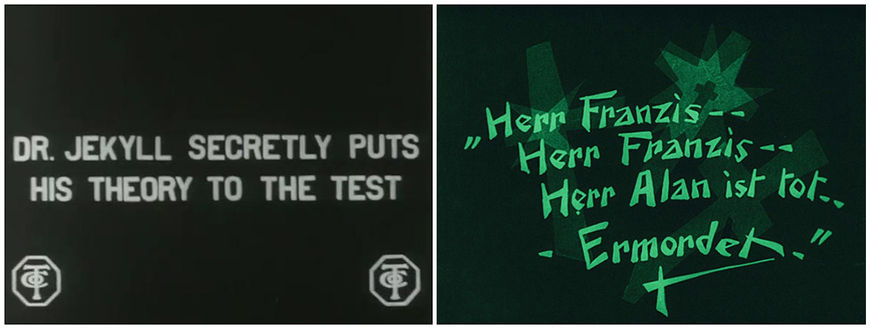 IMAGE: Intertitle Comparison