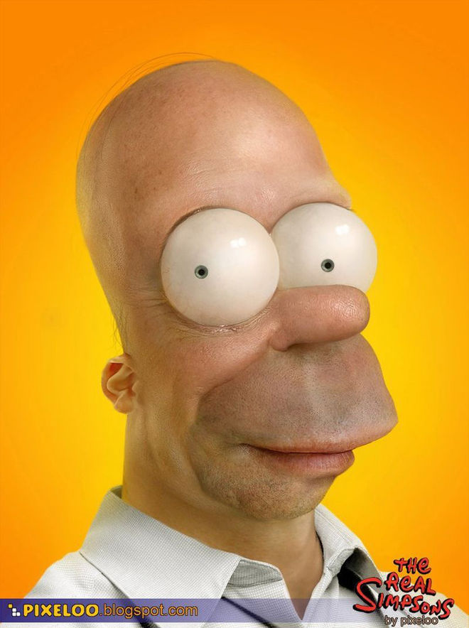 IMAGE: Photorealistic Homer Simpson