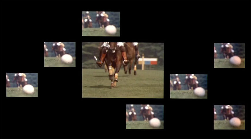 V: Polo scene multiscreen montage from The Thomas Crown Affair (1968)