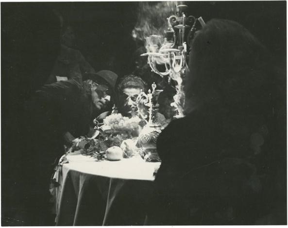 IMAGE: Jean Cocteau and René Clément prepare a scene in La belle et la Bête