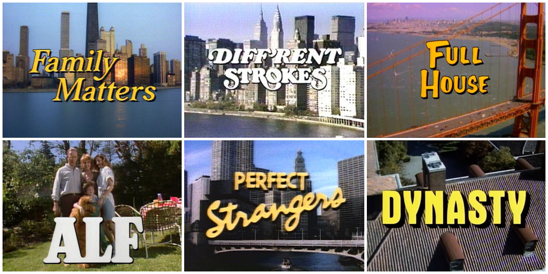 IMAGE: 80s title cards